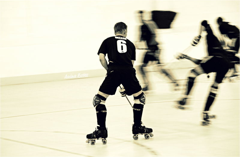 NZ Roller Hockey, Sepia, Action, Sport, Speed