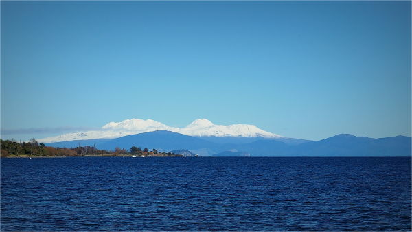 Taupo, Lake, Blue, Water, NZ