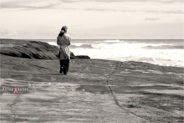 Girl, Rocks, Ocean, NZ
