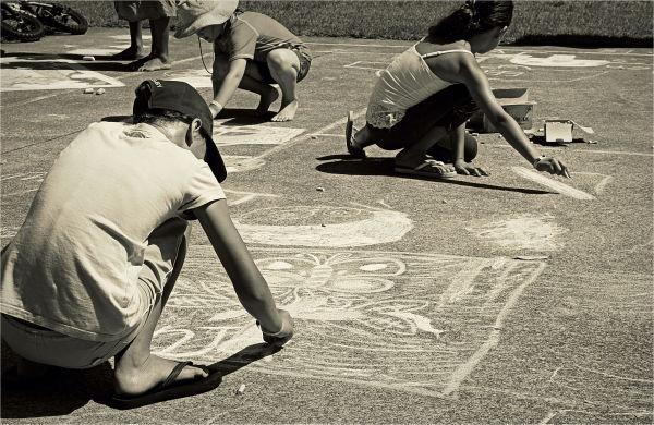 Chalk, Art, Drawing, Holiday, Anja