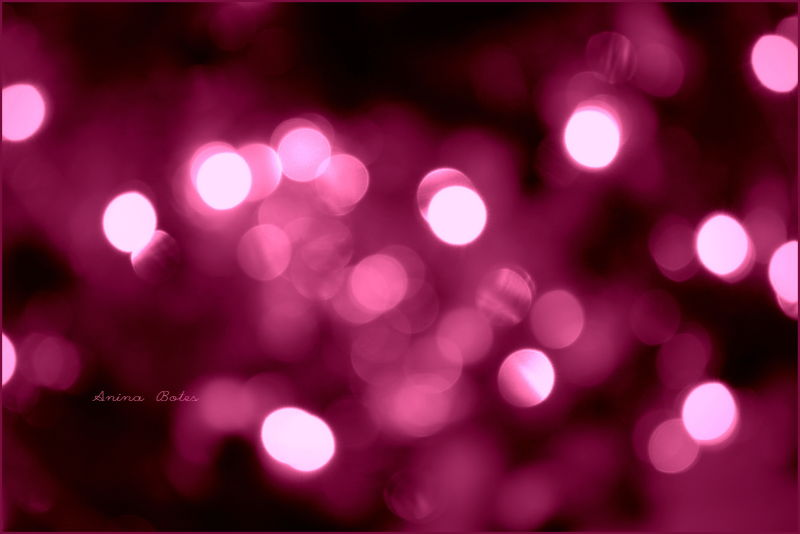 Pink, light, bokeh