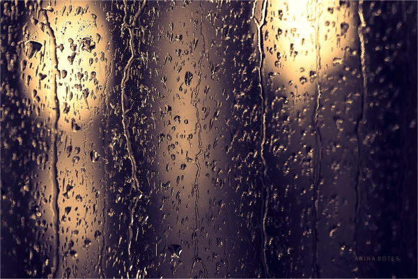 Rain, drops, window, autumn, weather