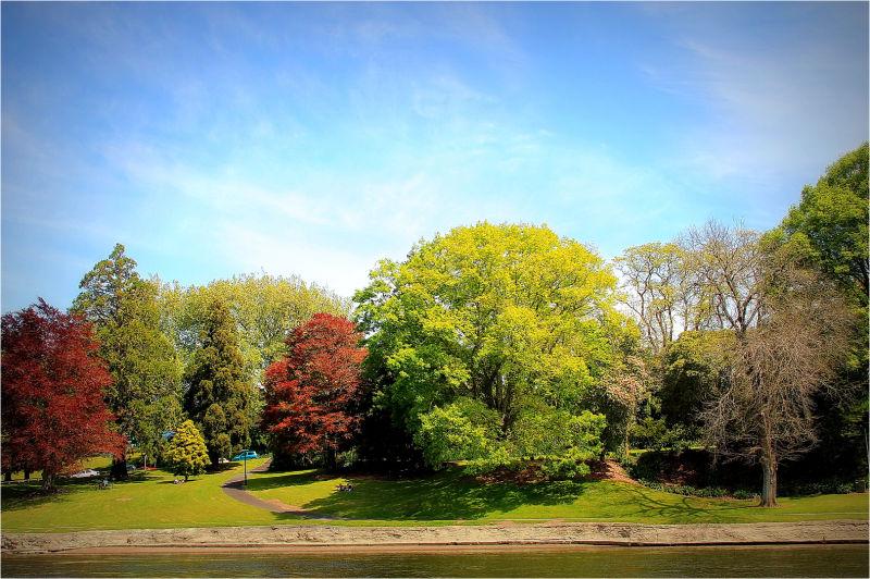 Autumn, River, colors