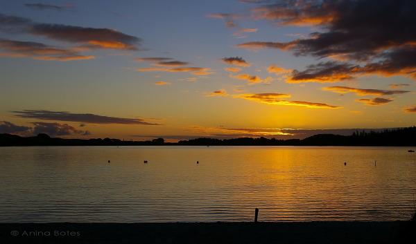 Kai Iwi Lake, sunset