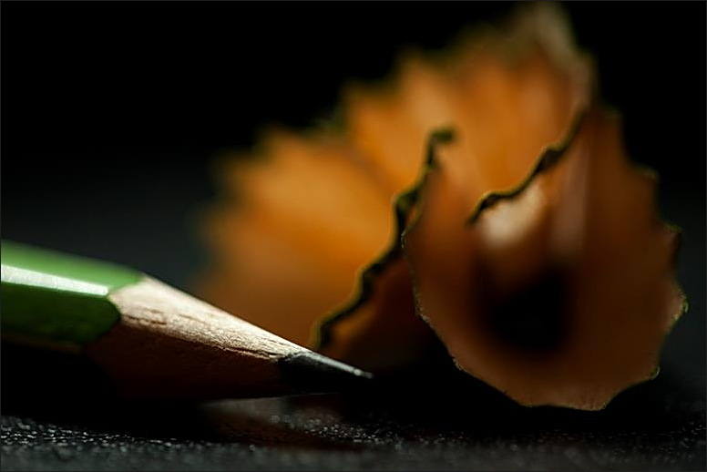 pencil, macro, colorspotlight
