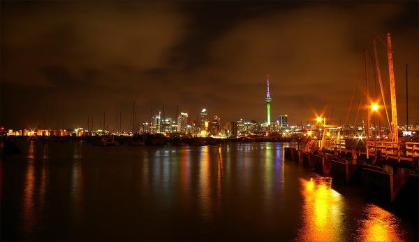 Auckland, city, NZ, new-zealand, night