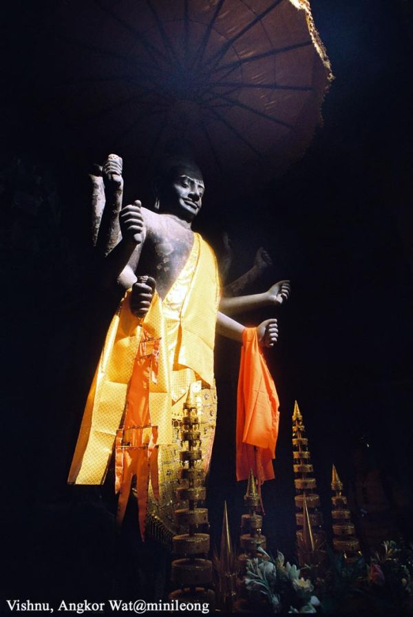 sunlight on the Vishnu, God of Protect
