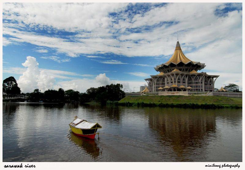 peaceful of sarawak river