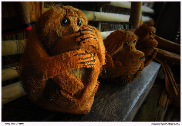 orang utan's puppets