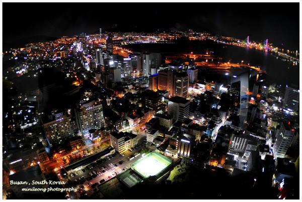Night fall. Busan, South Korea