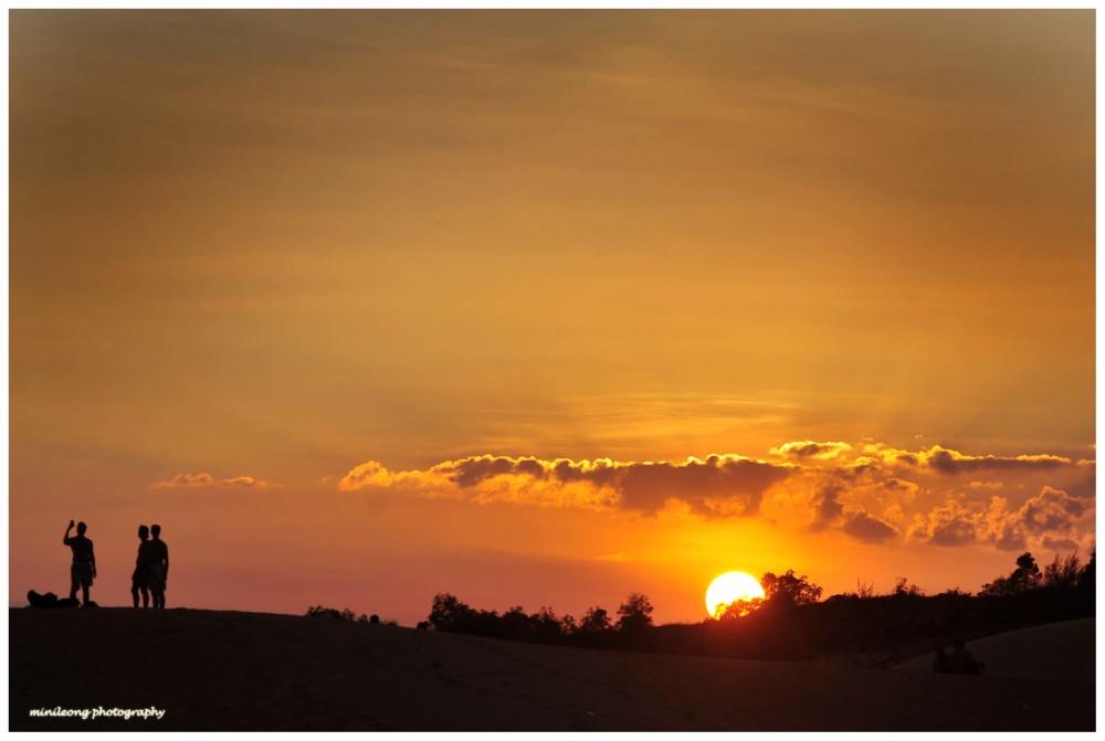 Sun Set, Red Sand Dunes, Viet Nam
