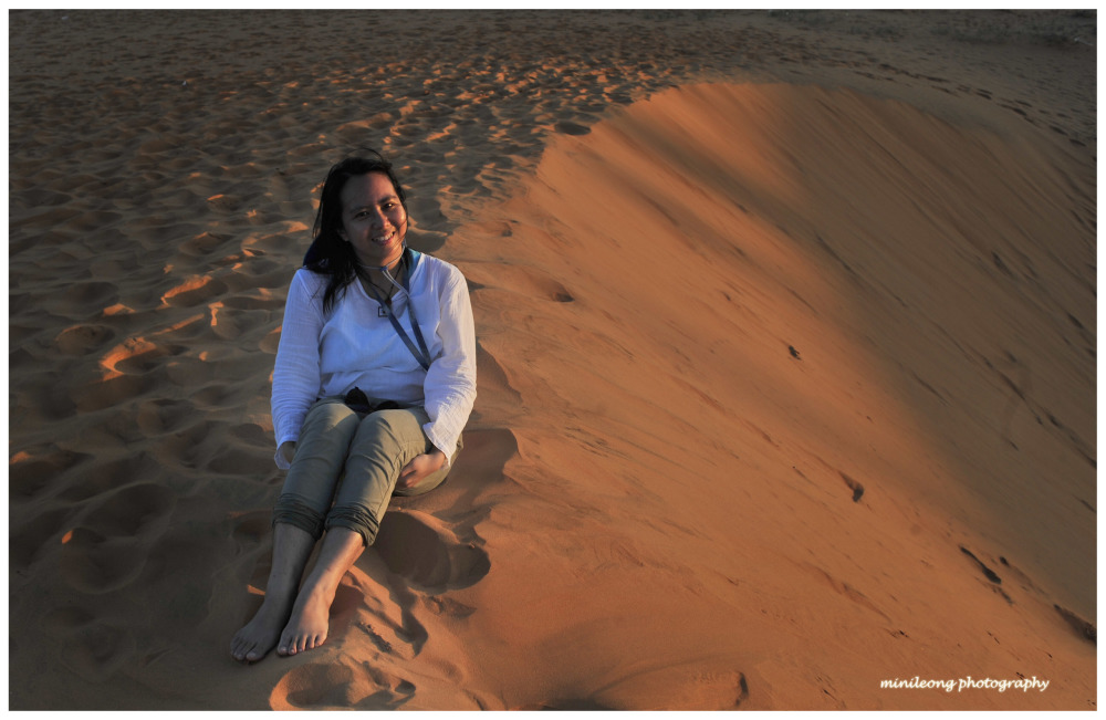 Beauty on Red Sand Dunes, Vietnam