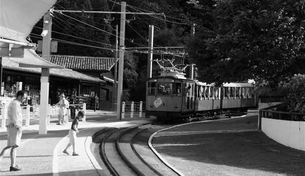 train gares pays-basque noir-et-blanc