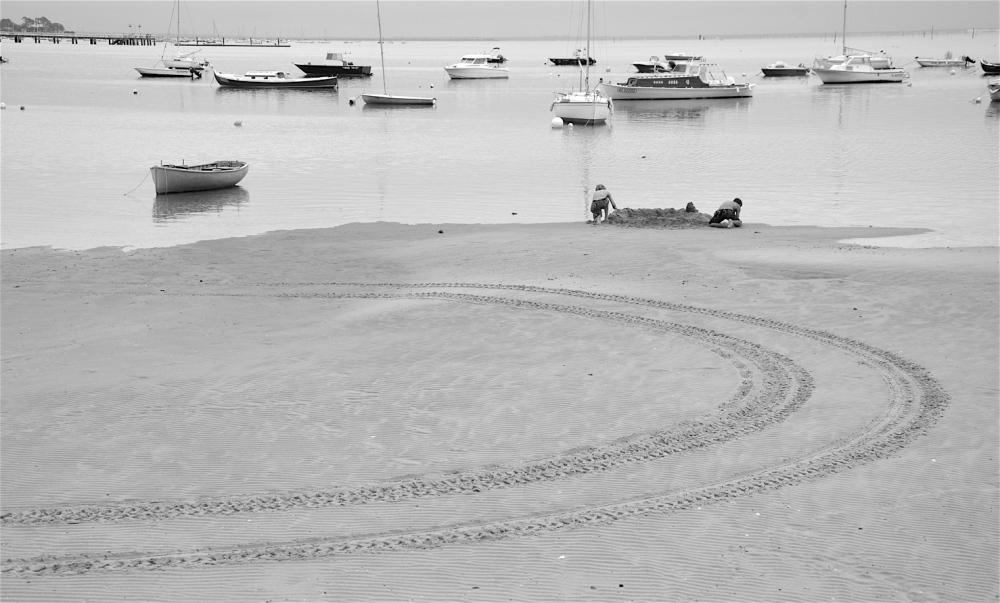 Sur la plage d'Andernos