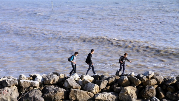 Stones surfers...