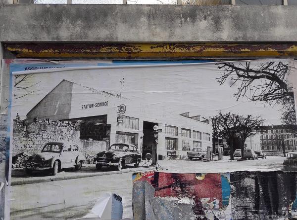 L'ancien garage affiché... sur l'ancien garage