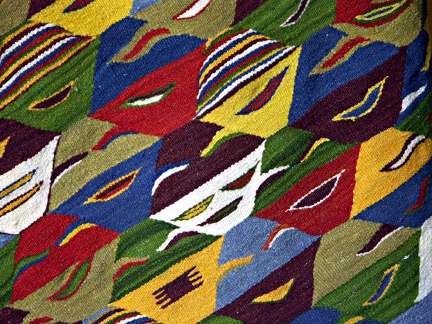 Détail, tapis, Maroc