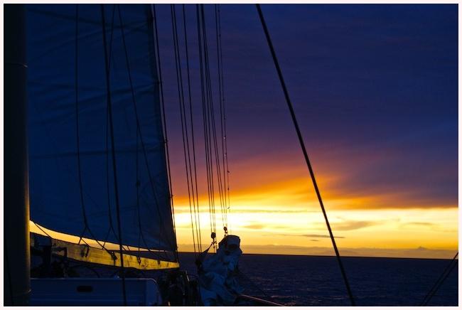 Zonsondergang op de Atlantische Oceaan!