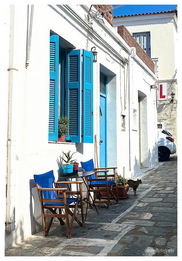 Greek street Andros Island
