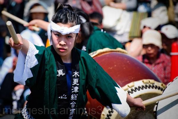 Drum festival in Narita (Japan)