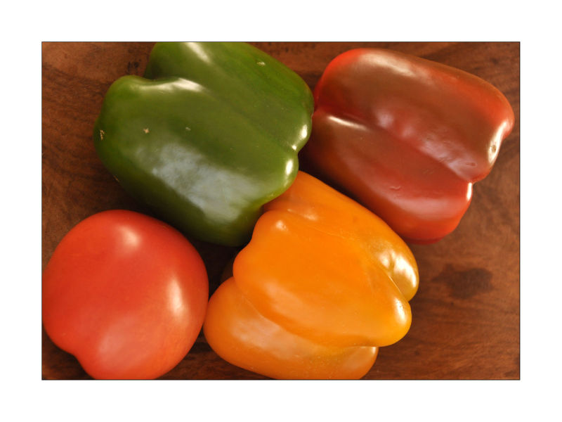 Peppers and tomato