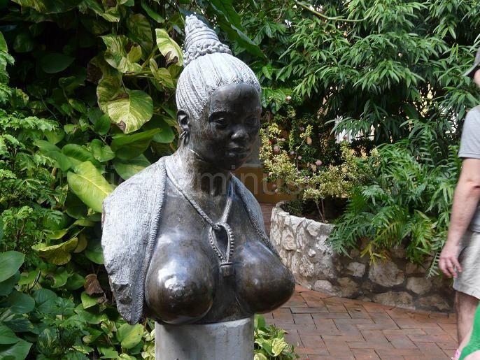 The statue in hotel Kura hulanda, Curacao