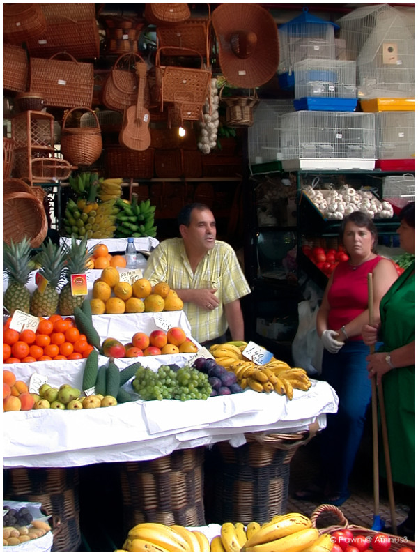 Fresh fruit and vegetables on the market
