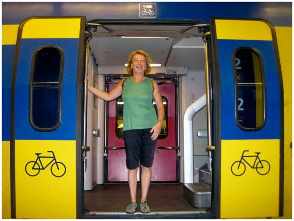 Train entrance for bikes