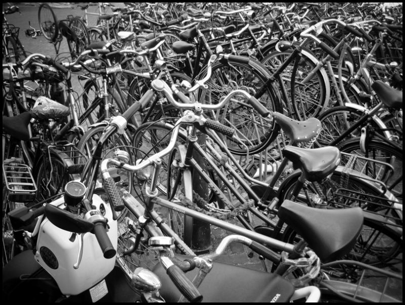 Bikes outside the station