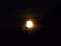 Hier au soir j'avais rendez-vous avec la lune !
