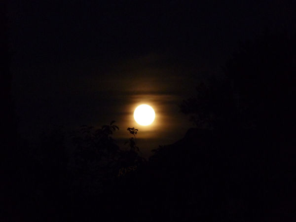 Hier au soir j'avais rendez vous avec la lune !