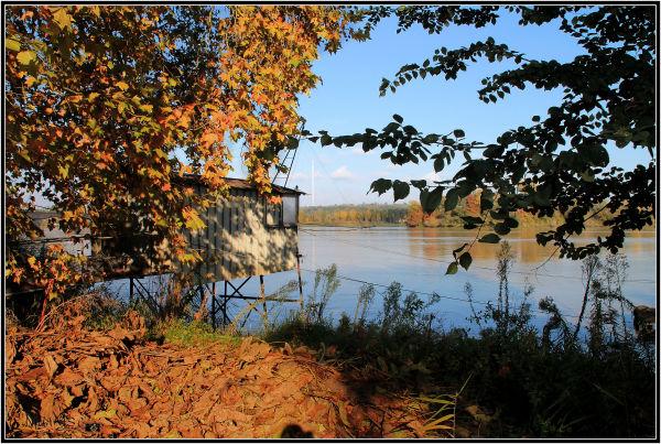 Ponton sur la Garonne