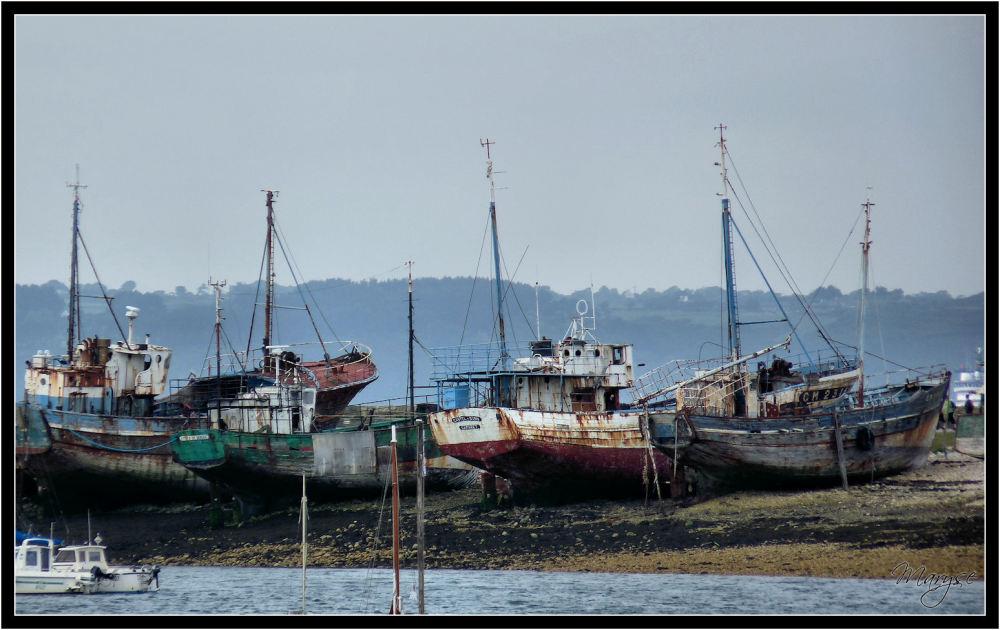 Le cimetière des bateaux à Camaret