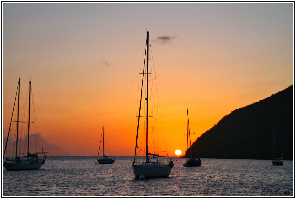 Coucher de soleil sur l'Anse d'Arlet