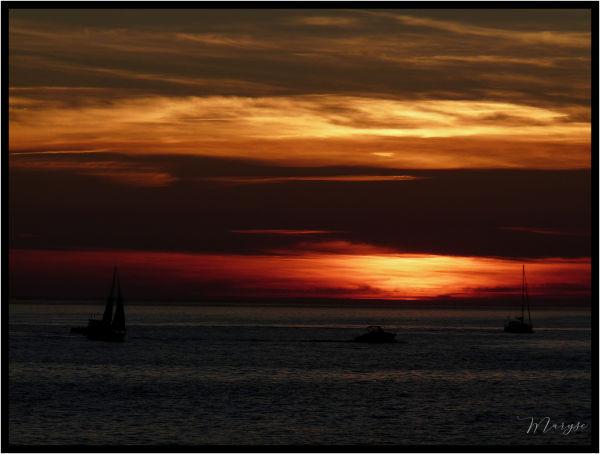Le coucher du soleil....