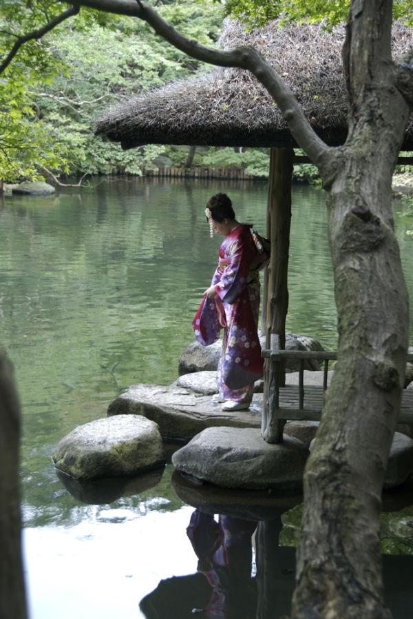 Girl at lake