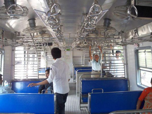 Deserted local train in Mumbai