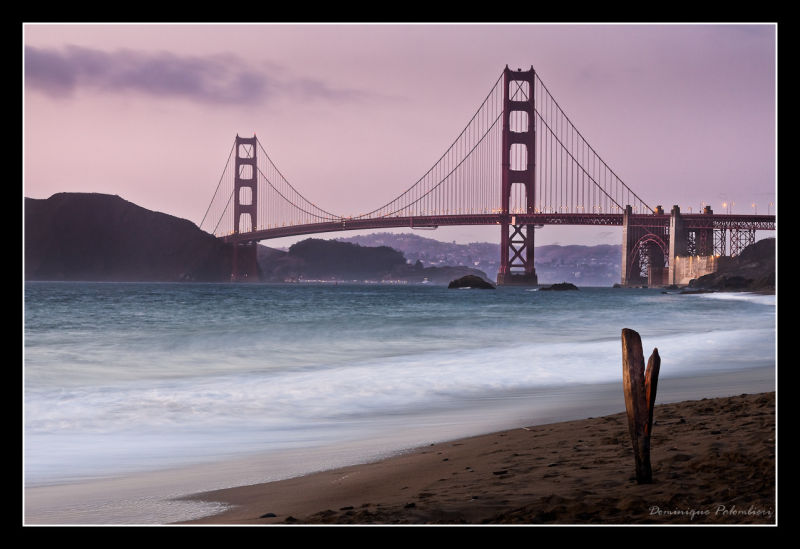 Golden Gate sunset from Baker Beach-San Francisco