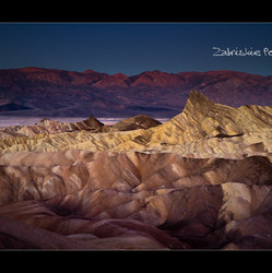 Zabriskie Point just before sunrise, Death Valley