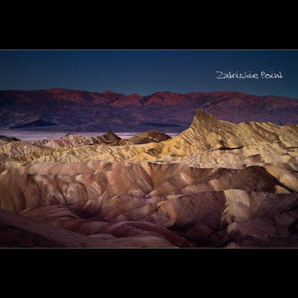 Zabriskie Point just before sunrise, Death Valley