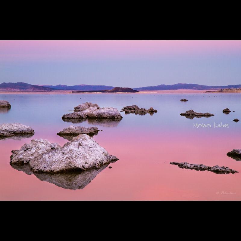 Pink Sunset - Mono Lake, Lee Vining, California US