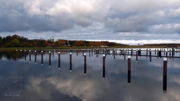 port sea baltic-sea darss water pole