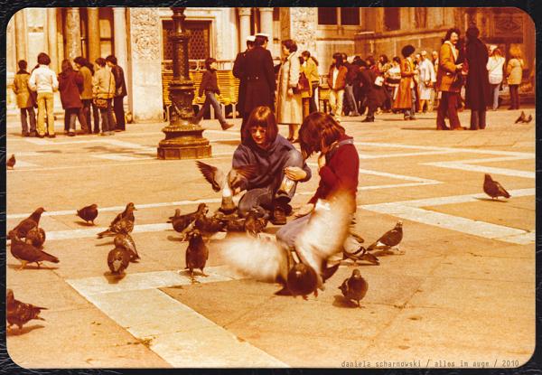 feeding San Marco´s pidgeons
