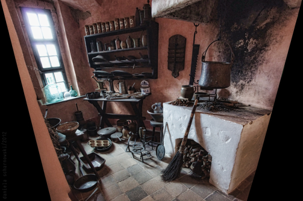 Stolpen Castel: Cosel Tower - kitchen