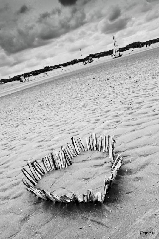mer plage coeur