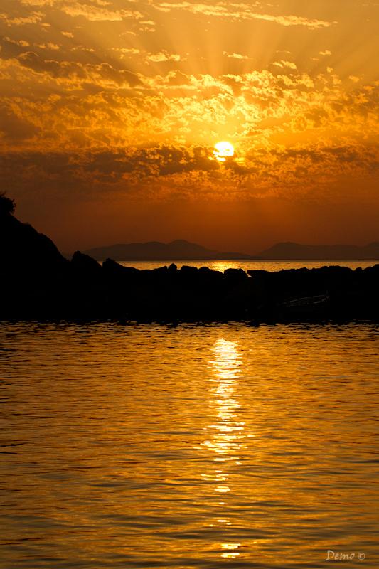 perdika, Demophoto, ciel, sunset