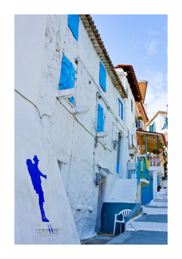 parga, blue, street Demophoto