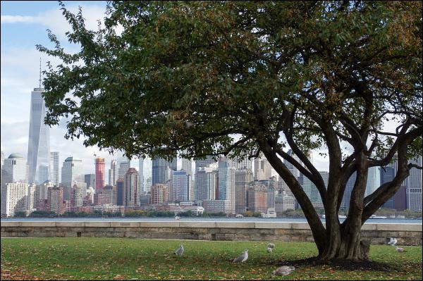 Manhattan depuis Ellis Island 2/3