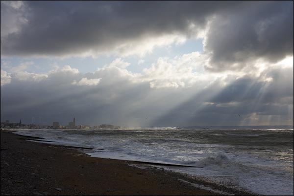 Lumière d'hiver sur Le Havre