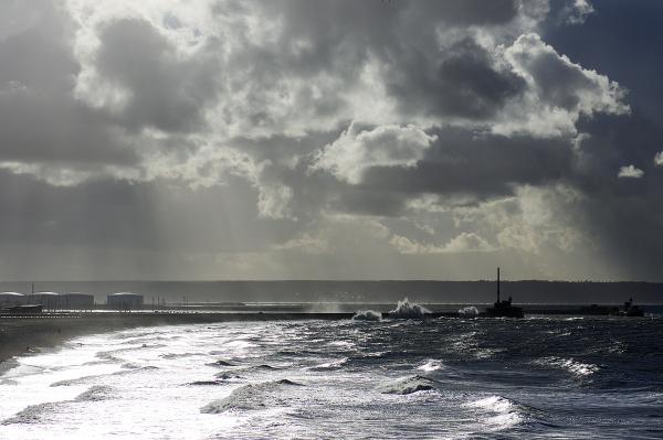 Soleil d'hiver sur la baie